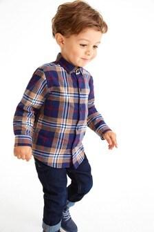 Рубашка в клетку с длинным рукавом (3 мес.-7 лет)
