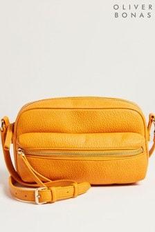 Желтая сумка через плечо Oliver Bonas Kiara
