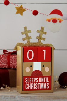 Compte à rebours de Noël marron