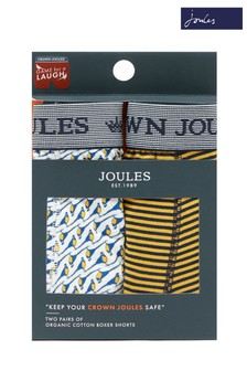 Joules Blue/Yellow Crown Underwear Two Pack