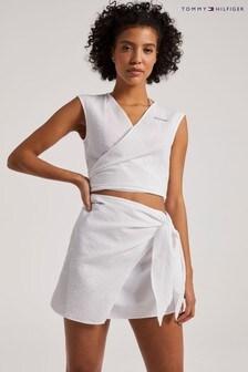חולצת בטן של Tommy Hilfiger בלבן