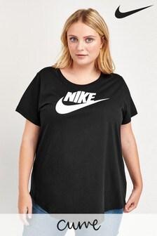 Nike Curve Essential T-Shirt, Schwarz