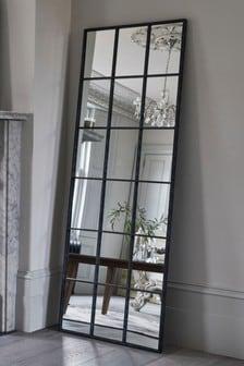 Metal Window Floor Standing Mirror