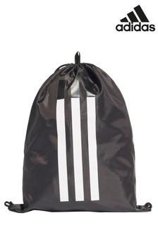 adidas Black 3 Stripe Gym Sack
