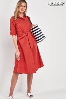 Красное платье-рубашка Lauren Ralph Lauren® Wakana