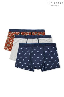 Ted Baker Blue Multi Agra Trunks Three Pack