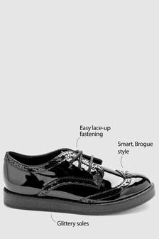נעלי אוקספורד בציפוי לכה (נוער)