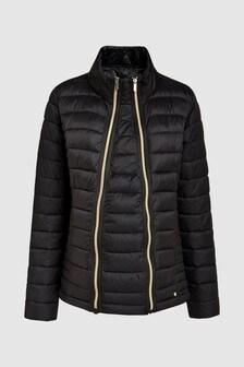 Короткая дутая компактная куртка для беременных