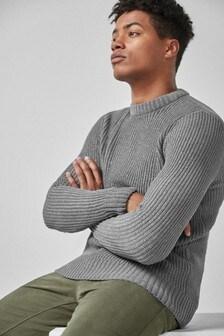 Ženilkový sveter s okrúhlym výstrihom