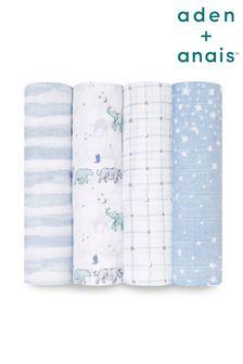 aden + anais Rising Star Large Cotton Muslin 4-Pack Blanket