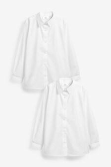 Набор из 2 рубашек с длинными рукавами на липучках и пуговицах (3-16 лет)
