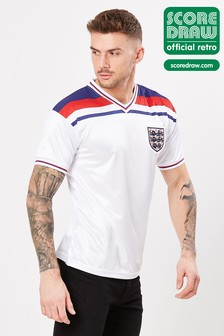 Score Draw England 1982 World Cup Finals Retro Jersey Shirt