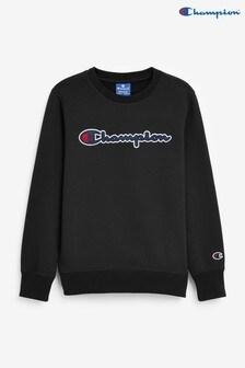 Champion Black Crew Jumper