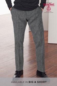 Signature British Fabric Herringbone Tailored Fit Harris Tweed Trousers