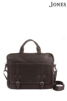 Коричневый мужской кожаный портфель Jones Bootmaker