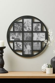 Grey Round Multi Aperture Photo Frame