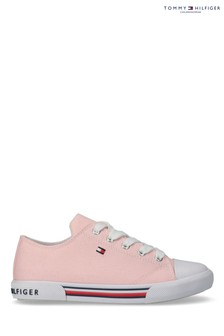 Tommy Hilfiger Pink Flag Laced Trainers