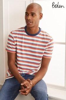 Boden Orange Stripe T-Shirt