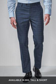 方格圖案西裝組:長褲