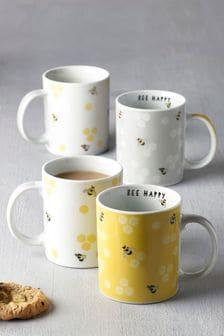 Set of 4 Bees Mugs