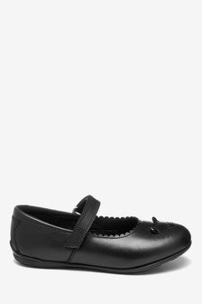 Leather Character Mary Jane Shoes