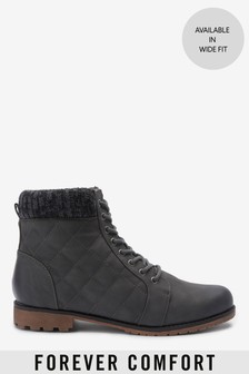 Forever Comfort® Quilted Lace-Up Boots