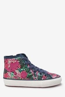 Hoher Sneaker mit Pailletten (Ältere)