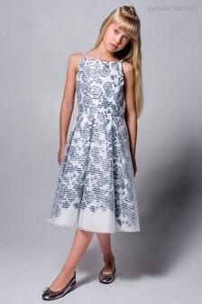 Angel & Rocket Blue/Navy Rose Stripe Dress