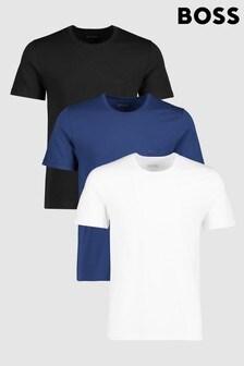 מארז של שלוש חולצות טי בצבע לבן/שחור/כחול של BOSS