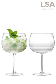 Set of 2 LSA International Groove Gin Glasses