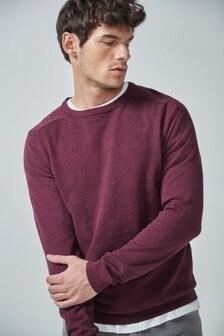 Textúrovaný pulóver s vysokým podielom bavlny