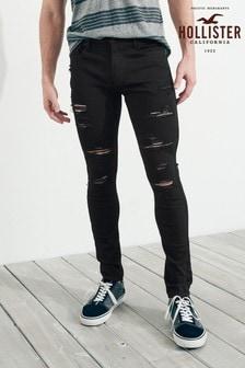Hollister黑色窄管牛仔褲