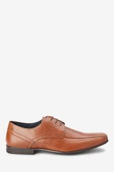Кожаные туфли на шнуровке со вставками