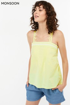 Monsoon Ladies Yellow Ebony Poplin Cami