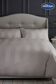 Silentnight Satin Stripe Duvet Cover and Pillowcase Set