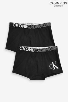Calvin Klein ブラック CK One トランクス 2枚組