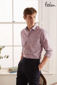 Boden 粉色府綢款式襯衫