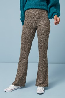 Jersey Flare Trousers