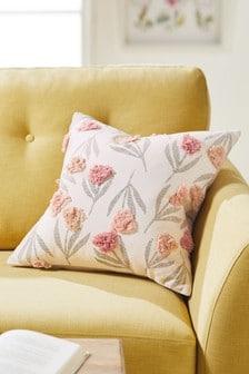 Подушка с цветочным узором и отделкой Maia