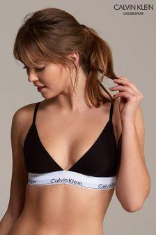 Calvin Klein Black Modern Cotton Triangle Bralette