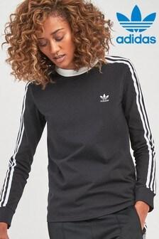 חולצת טי עם שרוולים ארוכים ו-3 פסים מסדרת Originals של adidas