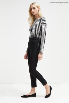 French Connection Black Street Twill Skinny Trouser