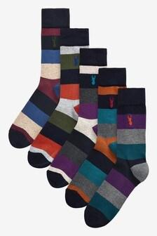 Pack de cinco pares de calcetines rayas