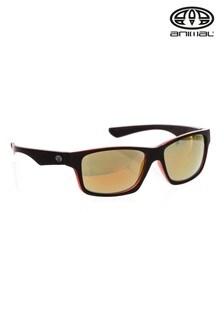 نظارة شمس ملتفة عاكسة سوداء من Animal