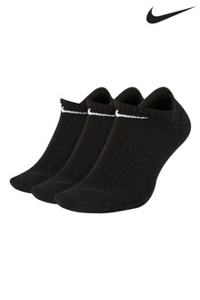 Nike Adult Black Everyday Cushioned Trainer Socks Three Pack