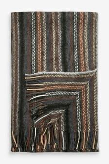 Zachte sjaal met streep