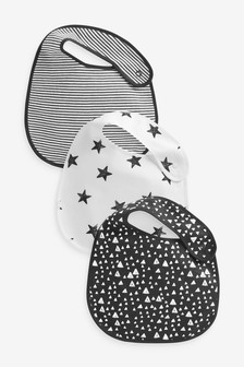 3 Pack Multi Print Regular Bibs