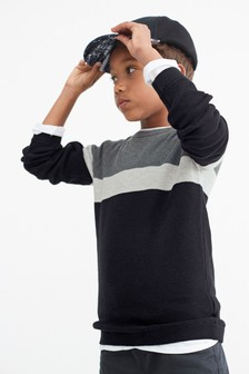Джемпер с цветными вставками (3-16 лет)