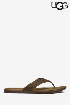 UGG® Brown Leather Seaside Flip Flop