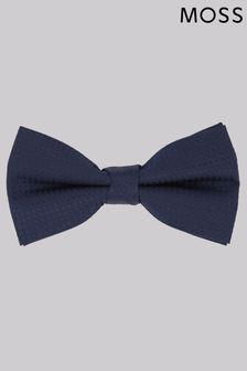 Moss 1851 Navy Diamond Texture Bow Tie